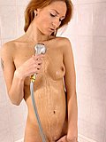 Redhead teen fucks huge toy in shower from Home Toy Teens